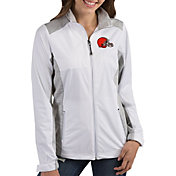 Antigua Women's Cleveland Browns Revolve White Full-Zip Jacket