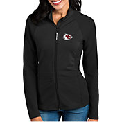 Antigua Women's Kansas City Chiefs Sonar Black Full-Zip Jacket