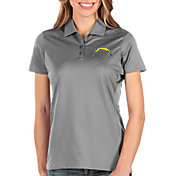 Antigua Women's Los Angeles Chargers Balance Grey Polo