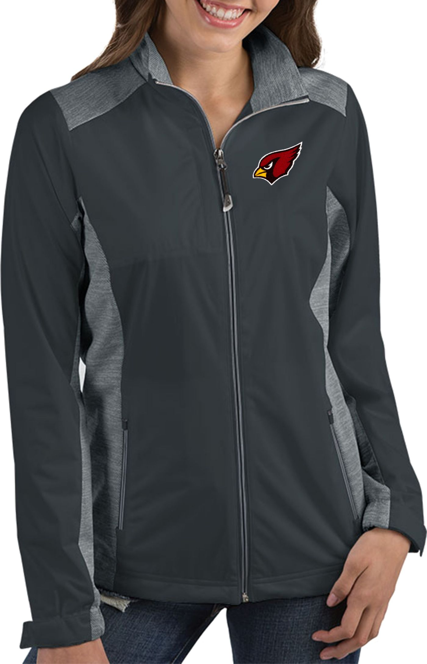 Antigua Women's Arizona Cardinals Revolve Charcoal Full-Zip Jacket