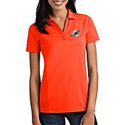 Antigua Women's Miami Dolphins Tribute Orange Polo