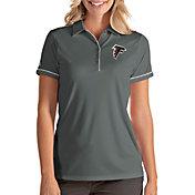 Antigua Women's Atlanta Falcons Salute Grey Polo