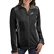 Antigua Women's Philadelphia Eagles Revolve Black Full-Zip Jacket