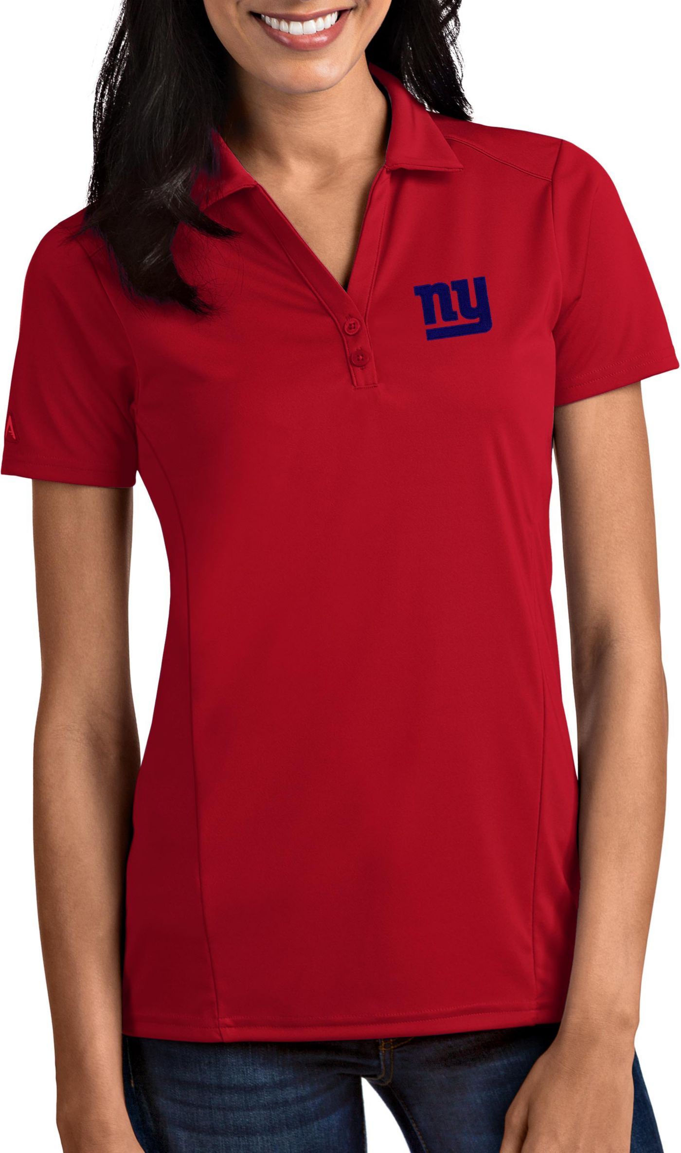 Antigua Women's New York Giants Tribute Red Polo