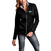 Antigua Women's New York Jets Leader Full-Zip Black Jacket