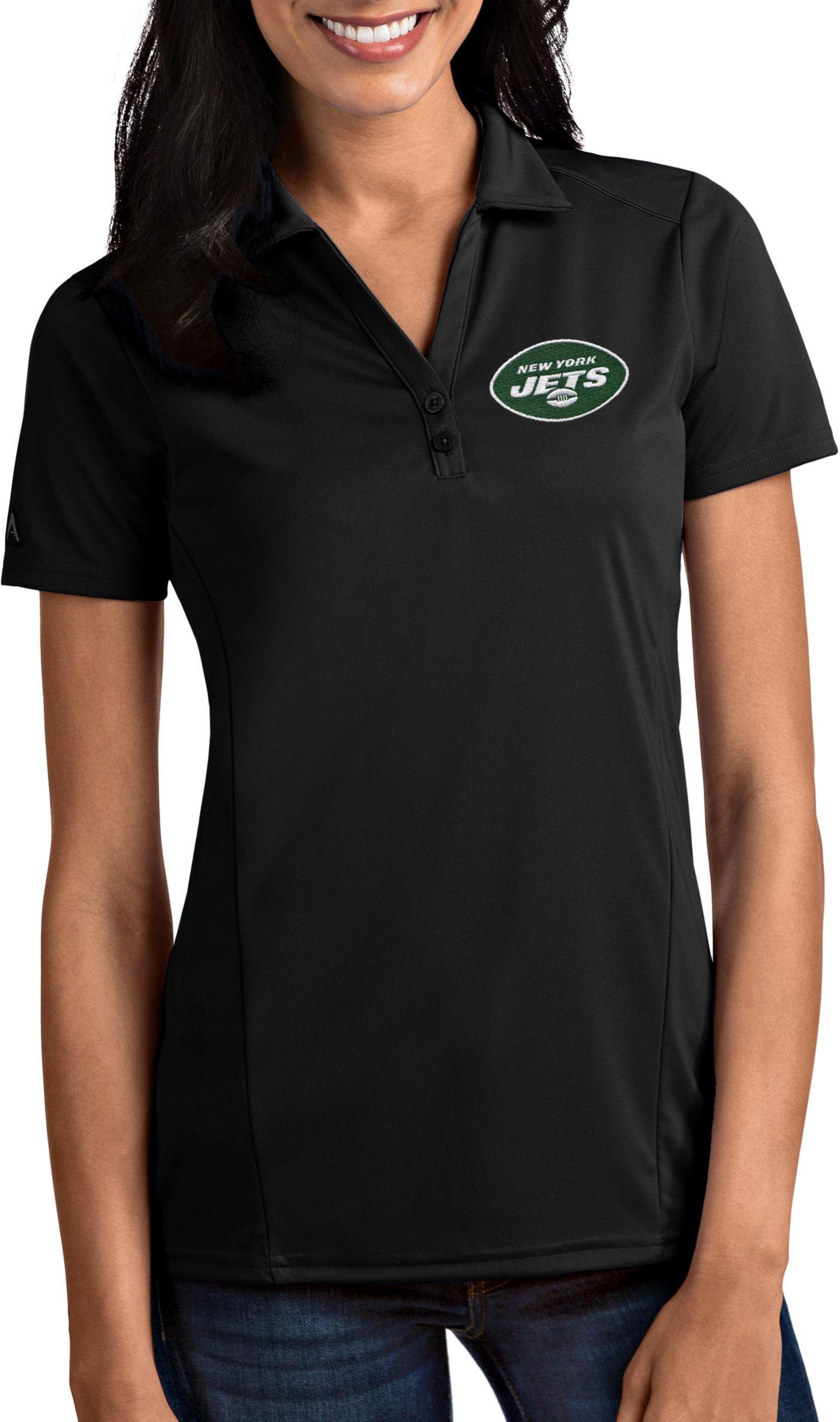 Antigua Women's New York Jets Tribute Black Polo