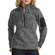 Antigua Women's New York Jets Fortune Smoke Pullover Jacket