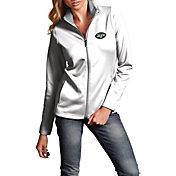 Antigua Women's New York Jets Leader Full-Zip White Jacket