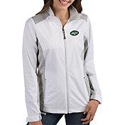 Antigua Women's New York Jets Revolve White Full-Zip Jacket
