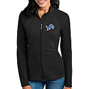 Antigua Women's Detroit Lions Sonar Black Full-Zip Jacket