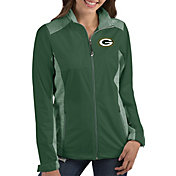 Antigua Women's Green Bay Packers Revolve Green Full-Zip Jacket
