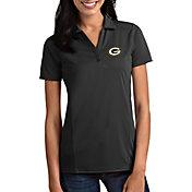 Antigua Women's Green Bay Packers Tribute Grey Polo