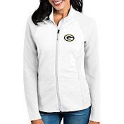Antigua Women's Green Bay Packers Sonar White Full-Zip Jacket