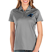 Antigua Women's Carolina Panthers Balance Grey Polo