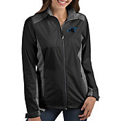 Antigua Women's Carolina Panthers Revolve Black Full-Zip Jacket