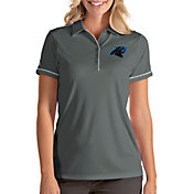 Antigua Women's Carolina Panthers Salute Grey Polo
