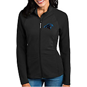 Antigua Women's Carolina Panthers Sonar Black Full-Zip Jacket