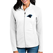 Antigua Women's Carolina Panthers Sonar White Full-Zip Jacket