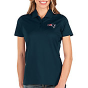 Antigua Women's New England Patriots Balance Navy Polo