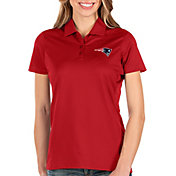 Antigua Women's New England Patriots Balance Red Polo