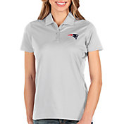 Antigua Women's New England Patriots Balance White Polo
