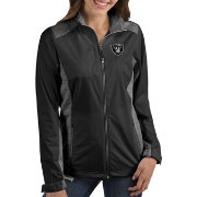 Antigua Women's Oakland Raiders Revolve Black Full-Zip Jacket