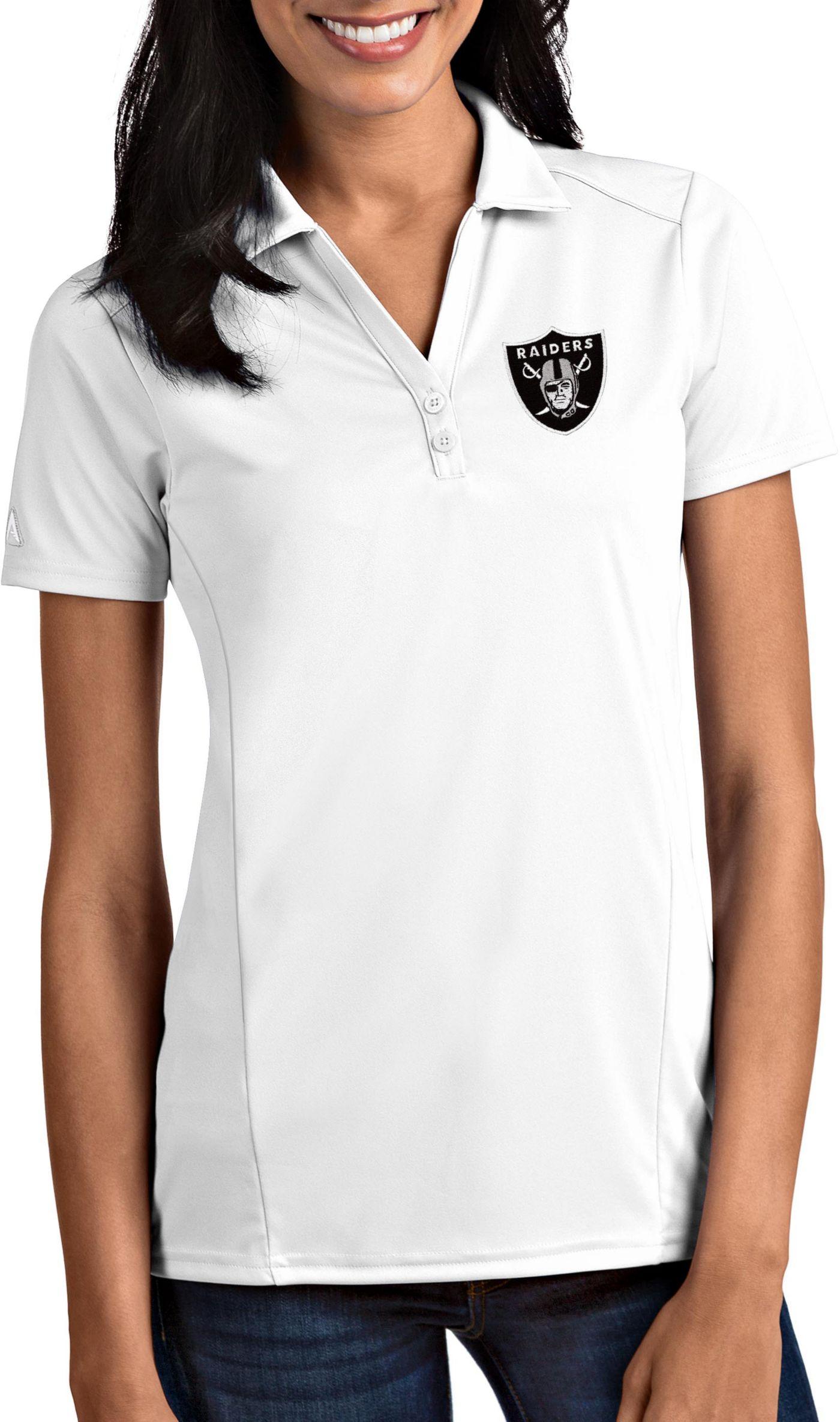 Antigua Women's Oakland Raiders Tribute White Polo