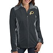 Antigua Women's Washington Redskins Revolve Charcoal Full-Zip Jacket