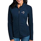 Antigua Women's Los Angeles Rams Sonar Navy Full-Zip Jacket
