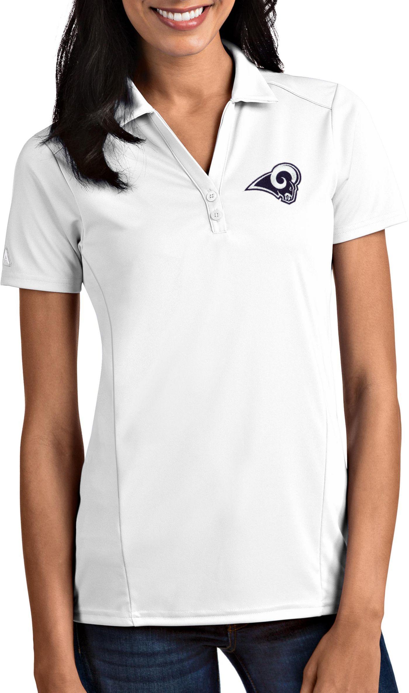 Antigua Women's Los Angeles Rams Tribute White Polo