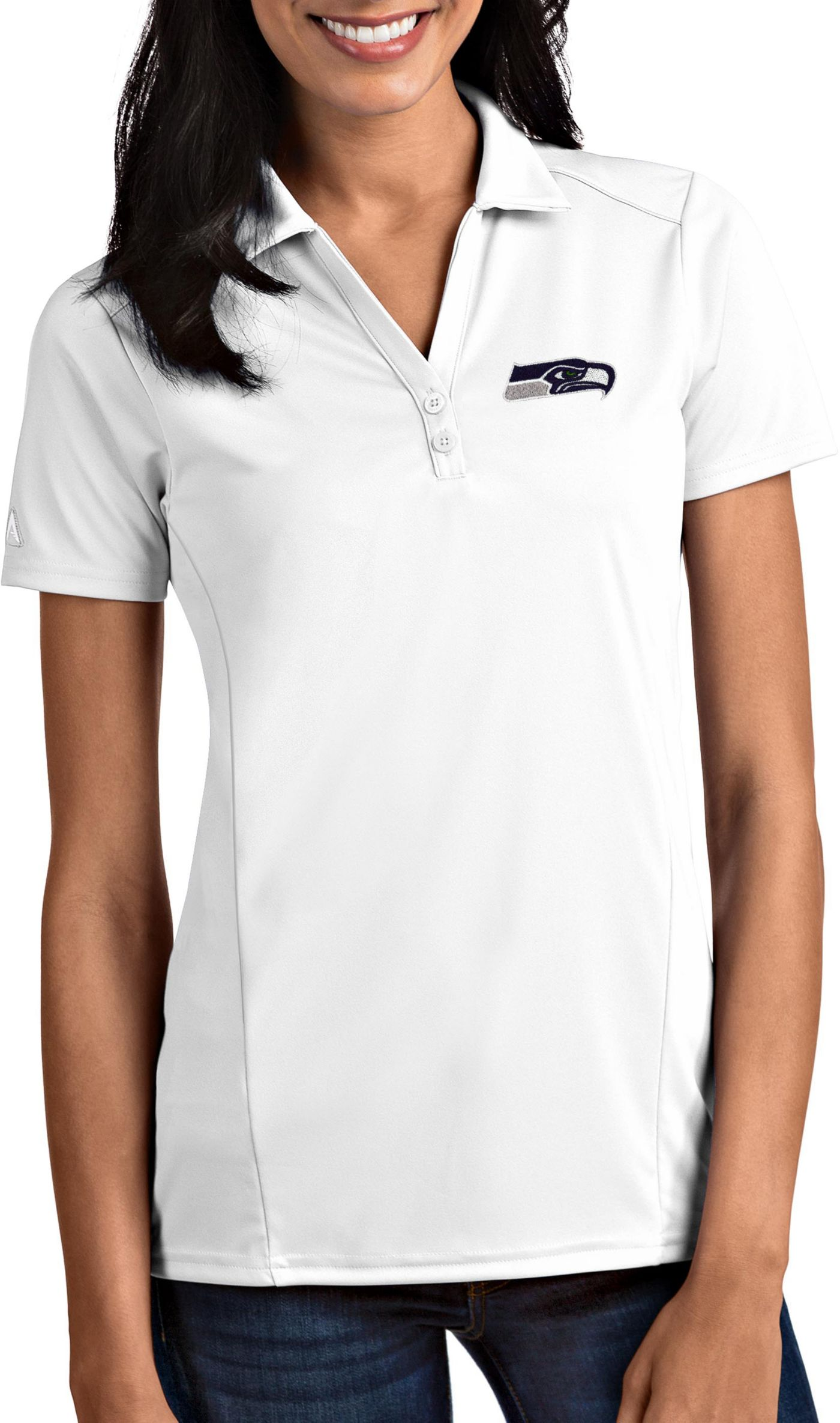 Antigua Women's Seattle Seahawks Tribute White Polo