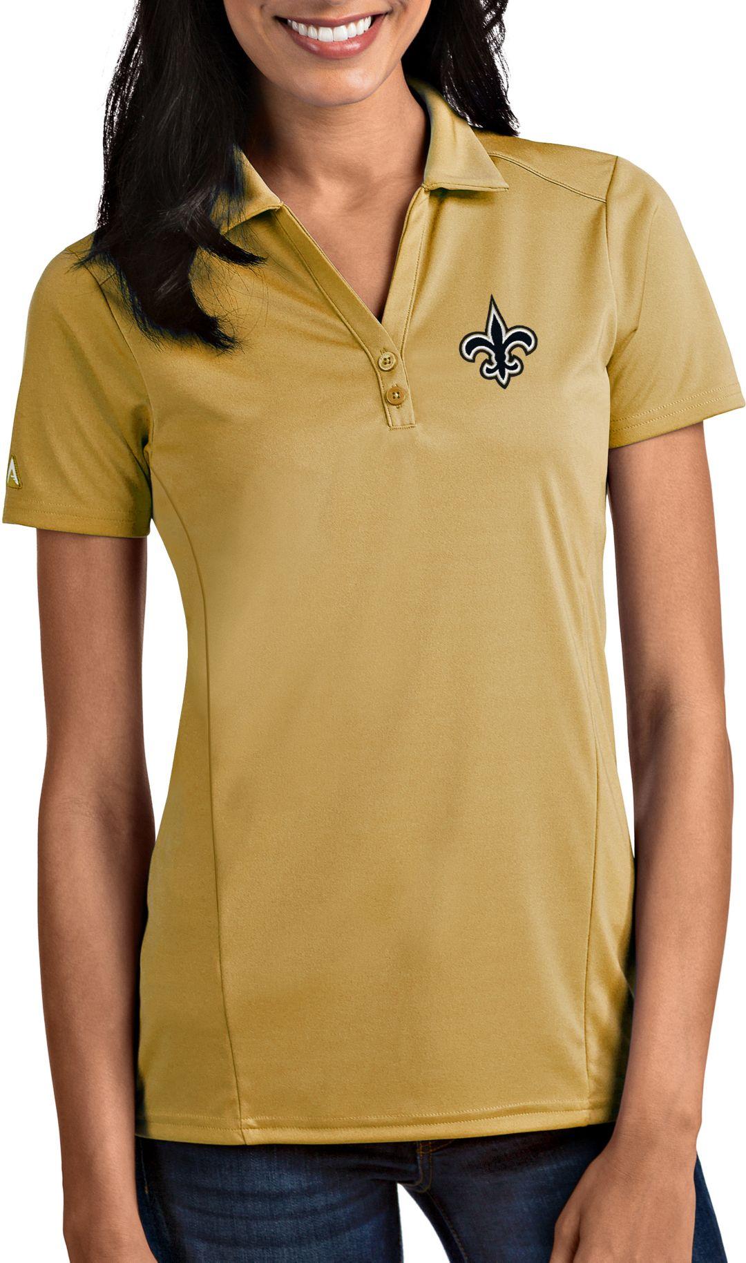 c5f0213f Antigua Women's New Orleans Saints Tribute Gold Polo