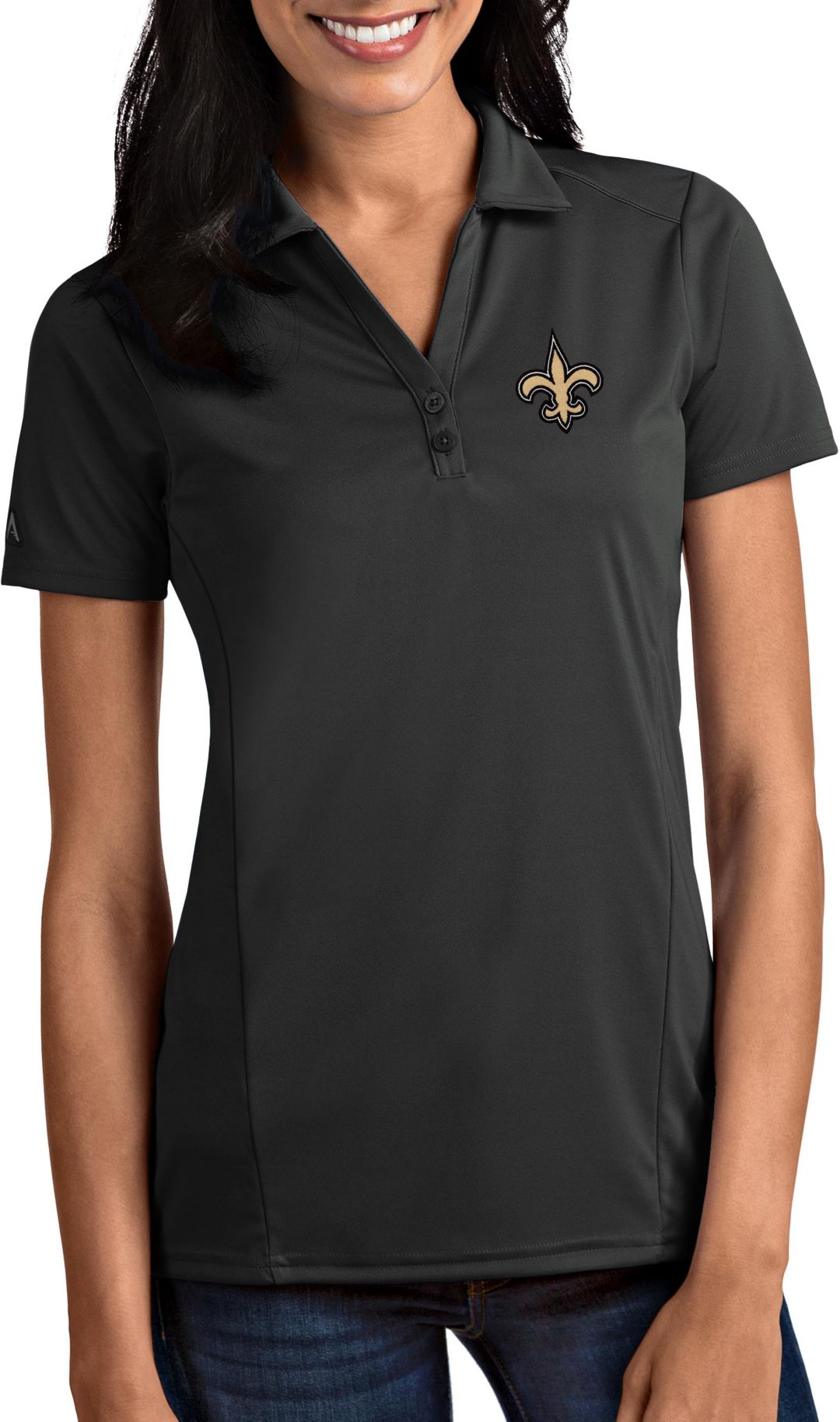 f19f7f2c Antigua Women's New Orleans Saints Tribute Grey Polo