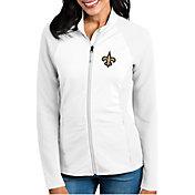 Antigua Women's New Orleans Saints Sonar White Full-Zip Jacket