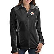 Antigua Women's Pittsburgh Steelers Revolve Black Full-Zip Jacket