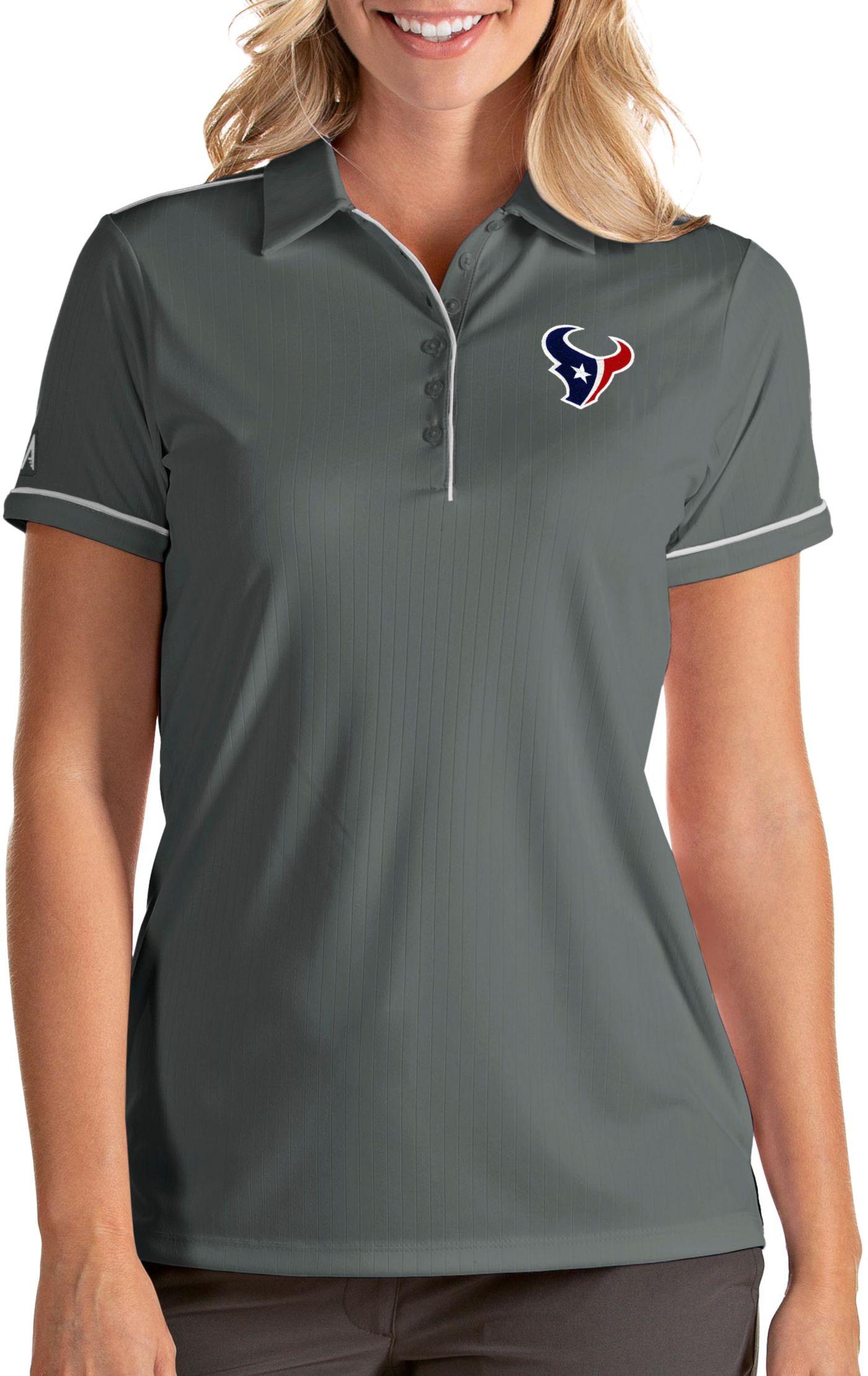 Antigua Women's Houston Texans Salute Grey Polo