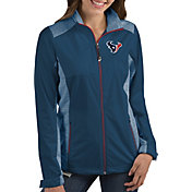 Antigua Women's Houston Texans Revolve Navy Full-Zip Jacket