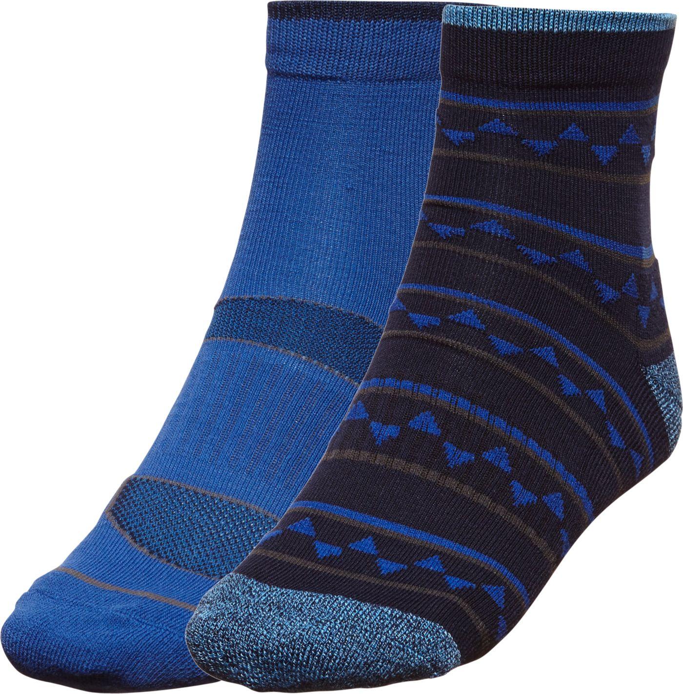 Alpine Design Men's Explorer Quarter Socks – 2 Pack