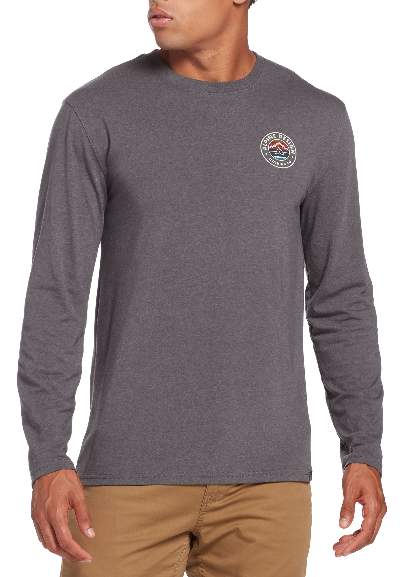 Alpine Design Men's First Mile Made Long Sleeve Logo T-Shirt