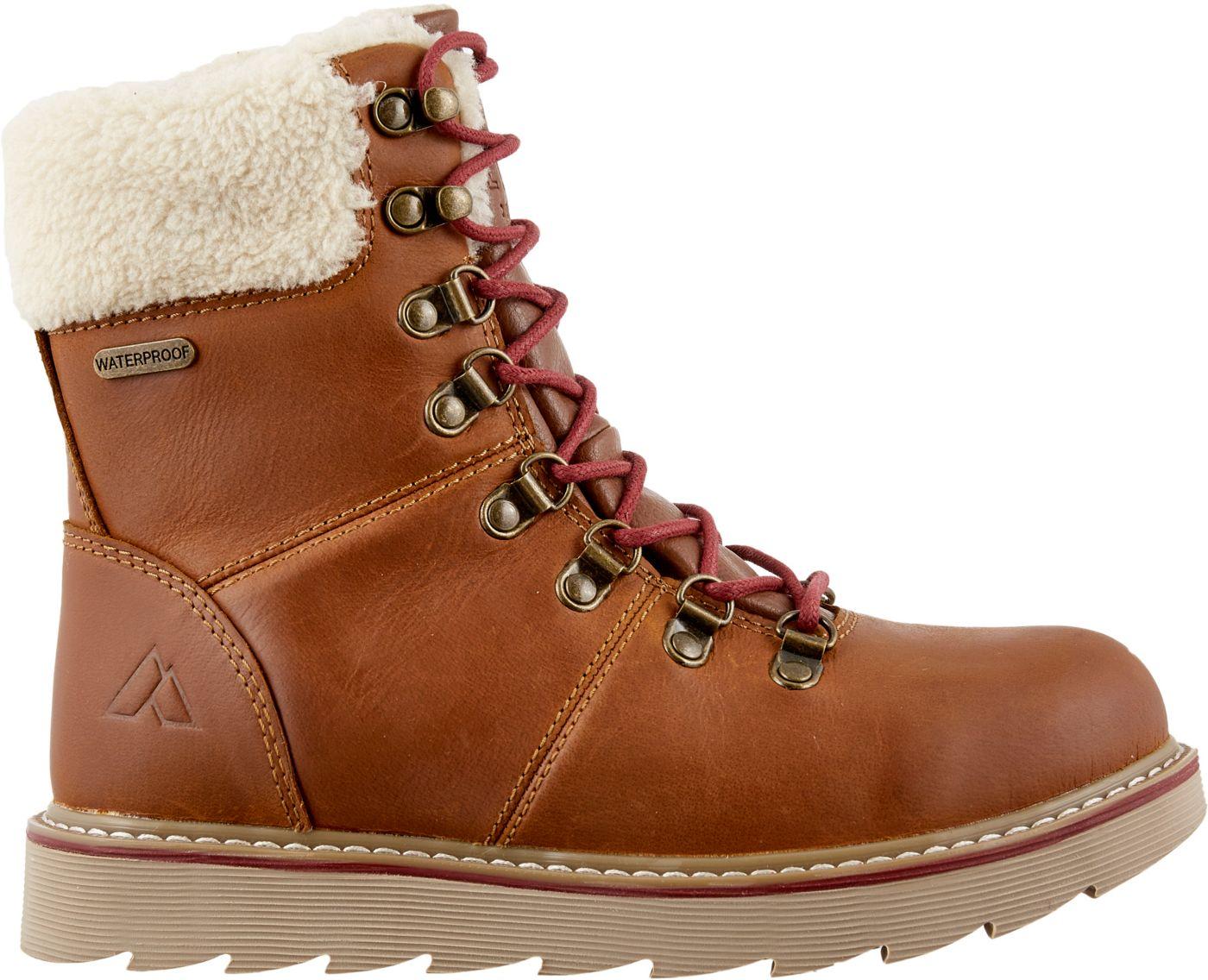 Alpine Design Women's Ember Ridge Leather 200g Waterproof Winter Boots
