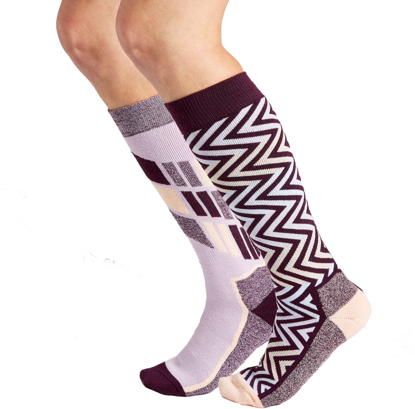 Alpine Design Women's Snow Sport Over-the-Calf Socks 2 Pack