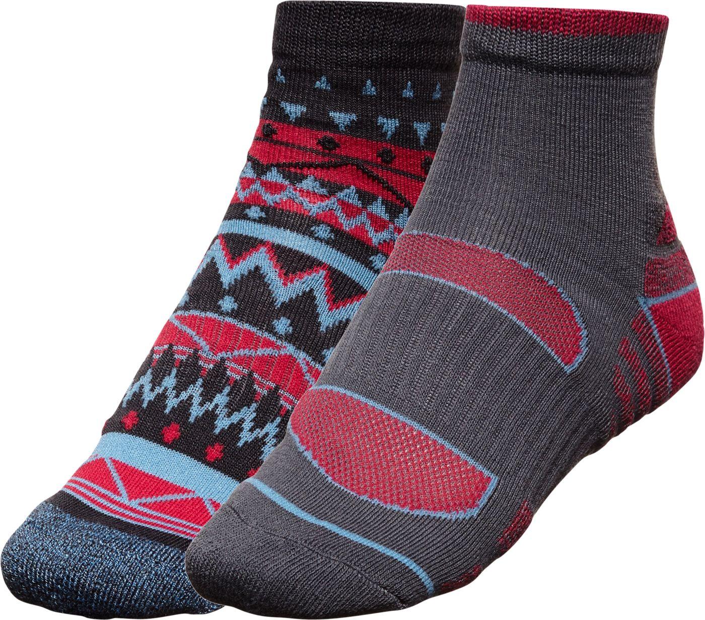 Alpine Design Women's Explorer Quarter Socks – 2 Pack