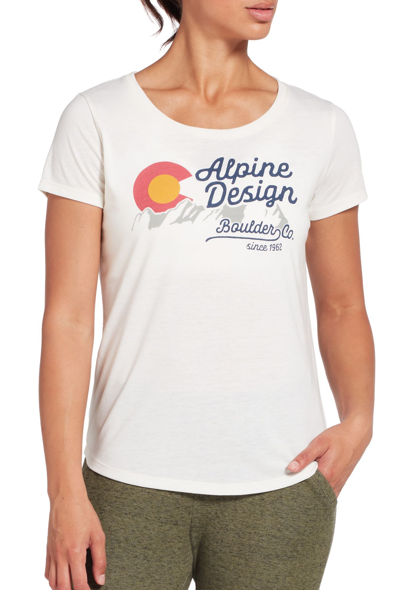 Alpine Design Women's First Mile Colorado Graphic Short Sleeve T-Shirt