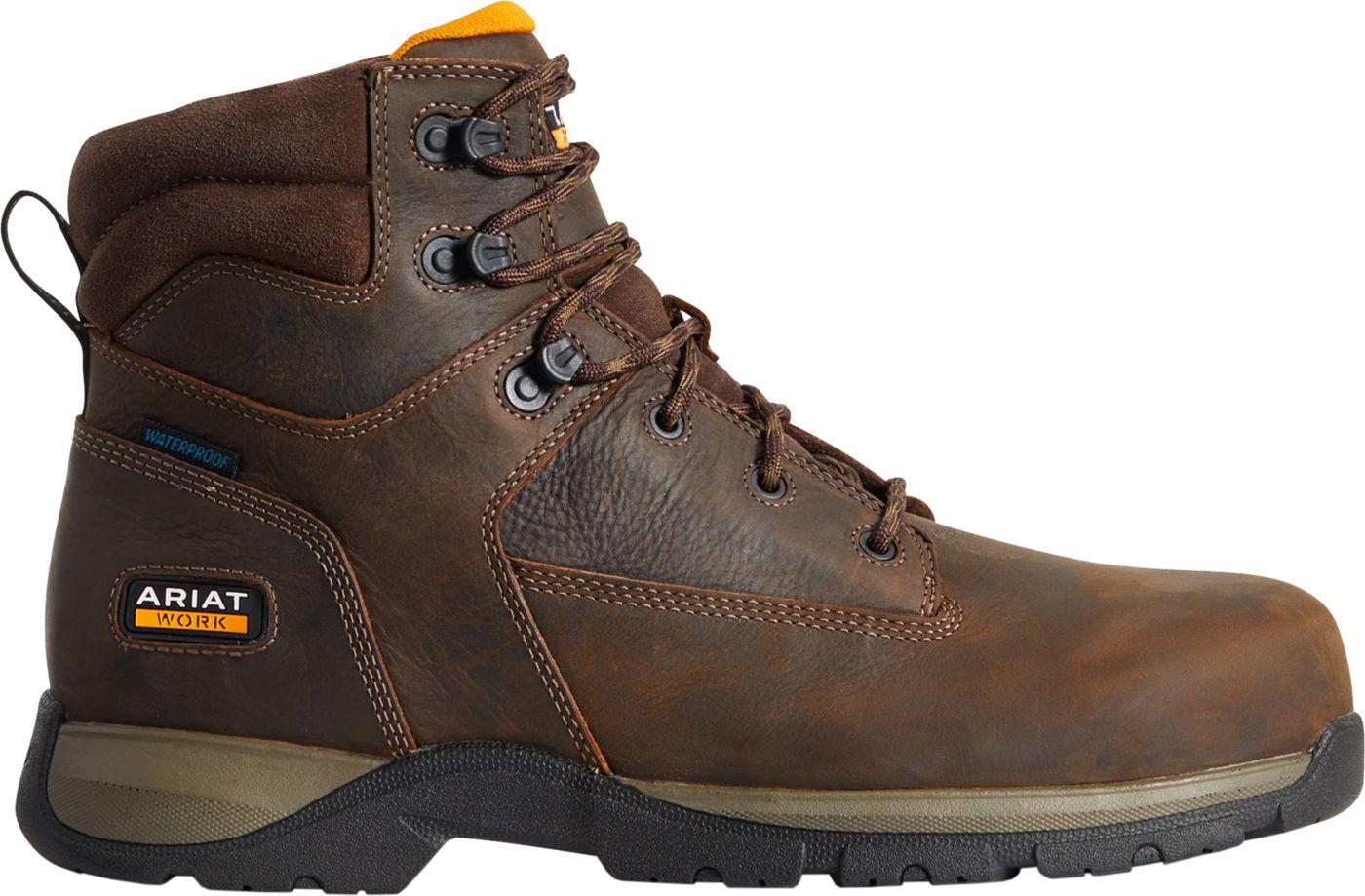 Ariat Men's Edge LTE 6'' Composite Toe Waterproof Work Boots