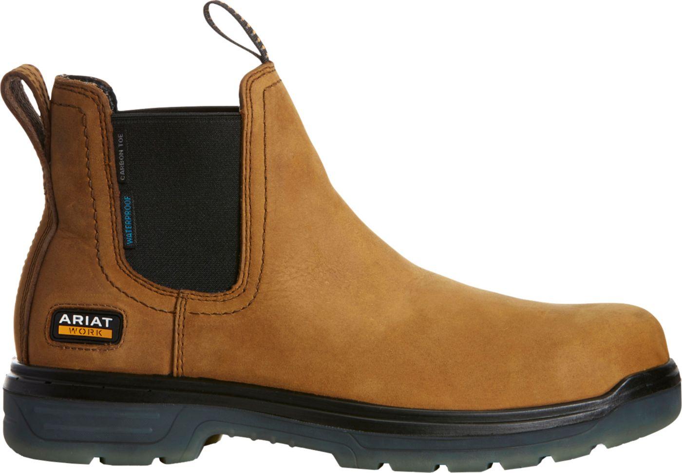 Ariat Men's Turbo Chelsea Waterproof Carbon Toe Work Boots