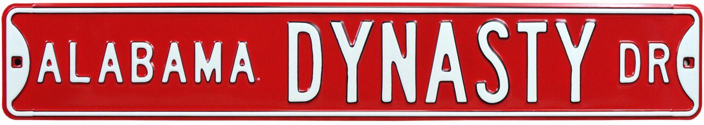 Authentic Street Signs Alabama Crimson Tide Dynasty Street Sign