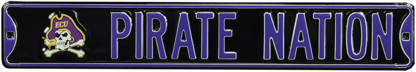 Authentic Street Signs East Carolina Pirates Pirate Nation Sign