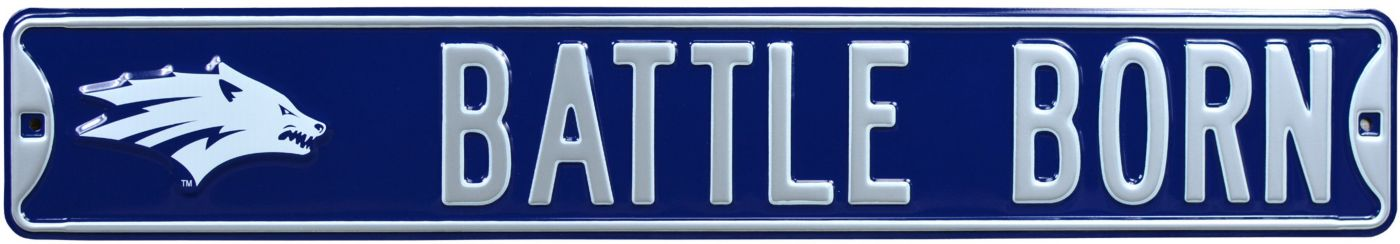 Authentic Street Signs Nevada Wolf Pack Battle Born Street Sign