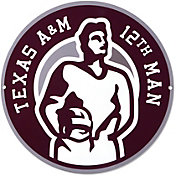 Authentic Street Signs Texas A&M Aggies Circle Steel Logo Sign