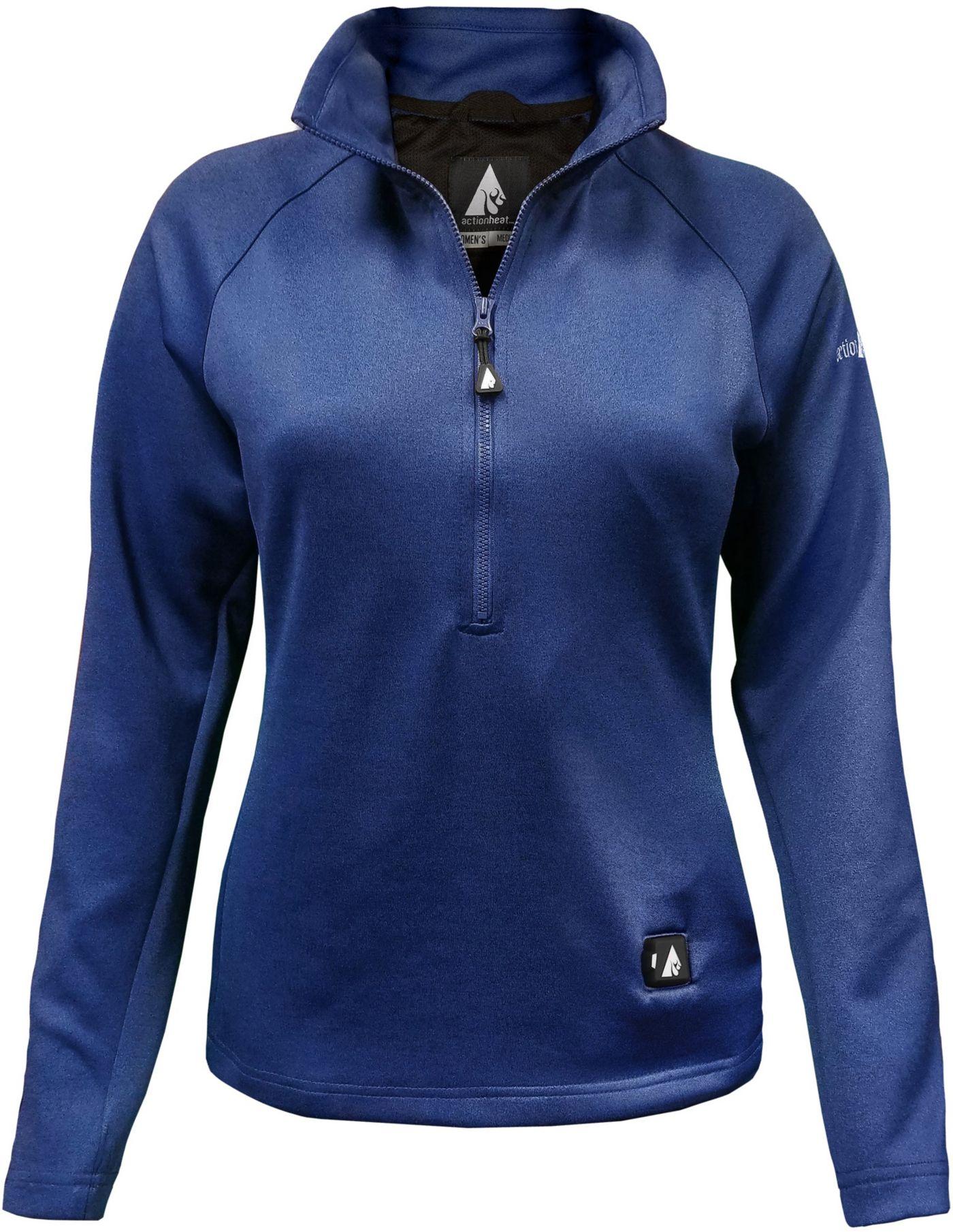 ActionHeat Women's 5V Heated ½ Zip Pullover